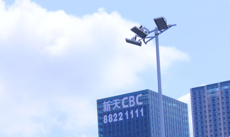 BBE HM6H installed in front of CBC in Futian, Shenzhen, China