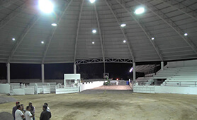 LED Street light LU8 is lighting the theater in Arena, Mexico