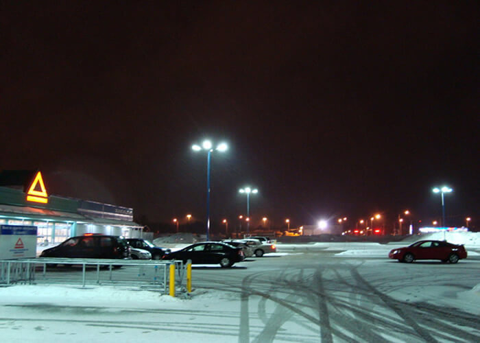 LED Parking Lot Lights in Montreal,Canada