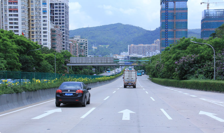 BBE LED street light LS series were installed at Caitian road, Shenzhen city