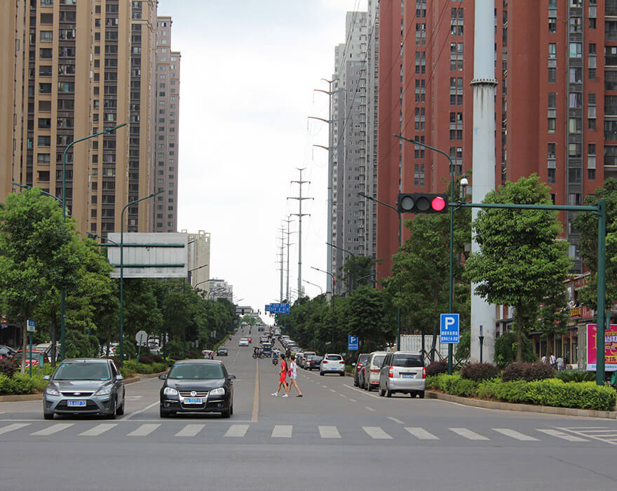 BBE LED Street Light-LU6 installed in Changsha, China