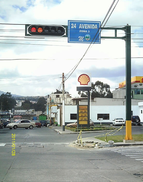 LED Traffic Light Project in Guatemala