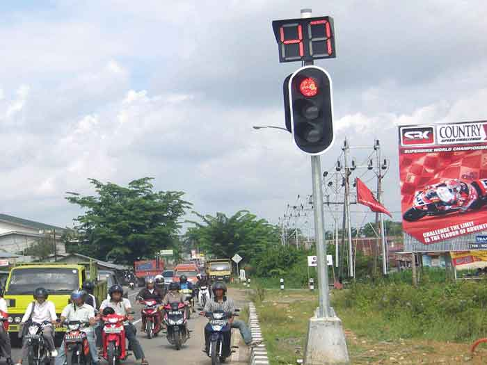 Traffic Light Indonesia Led Traffic Light Project in