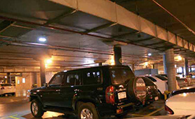 LED Tunnel Light SD2 install in Australia Casino Underground Parking Lot