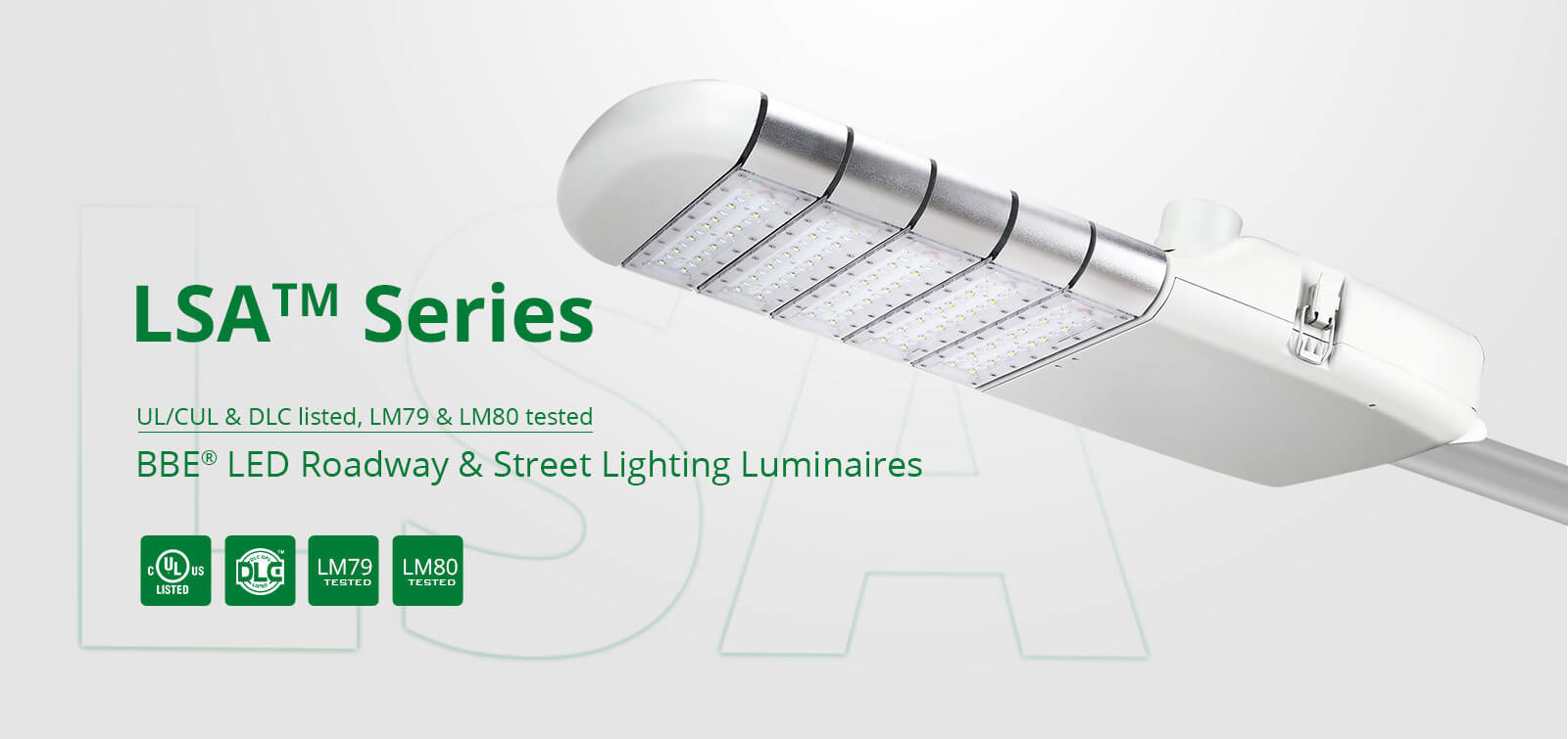 UL DLC LED Street lightings