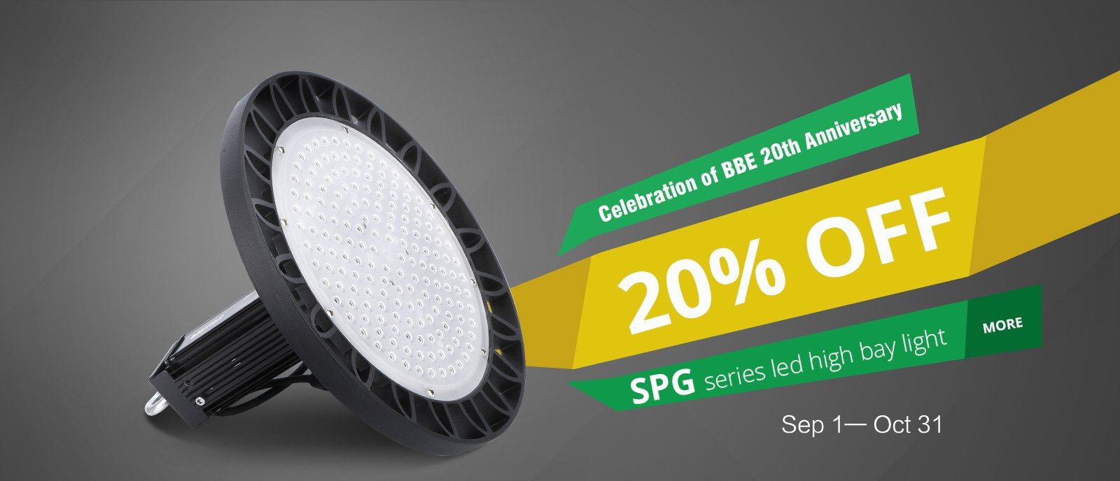 20% off spg high bay light