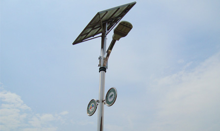 Solar Wind Turbine LED Street Light in Korea