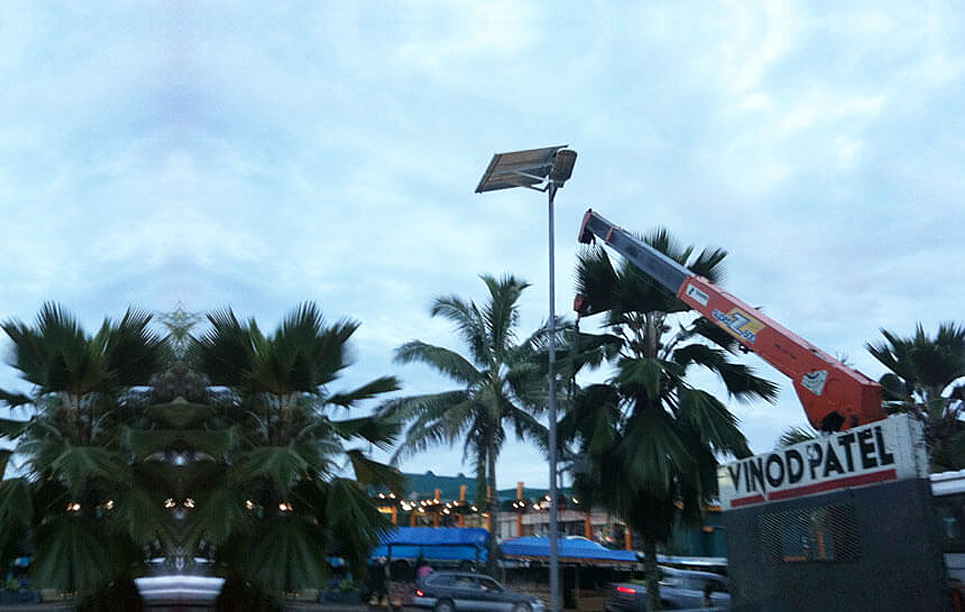 BBE SS28 and SS112 Solar Street Light Installed in Fiji