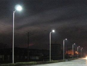 LED Chinese Street light lightened up the road to home for 200 families