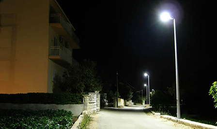 BBE Powered Street Light, LU2 in Tkon City, Croatia