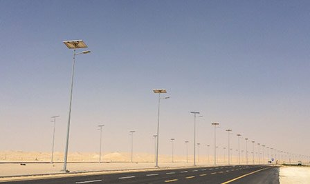 BBE Solar LED Street Light-LS4&LS5 in Saudi Arab