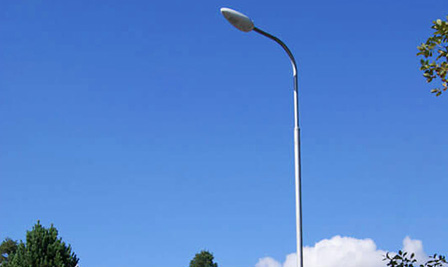 LED Street Light, LU1 in Heinola, Koskensaarentie, Finland