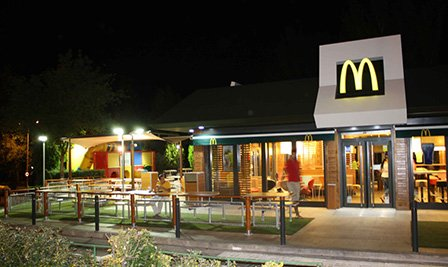 LED Street Light, LU4 in McDonald's Spain