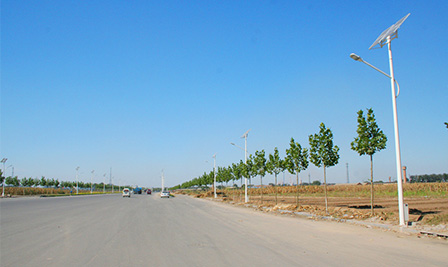 LED Street Light Project in Hebei China